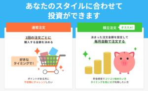 楽天証券ポイント投資_2種類の注文方法